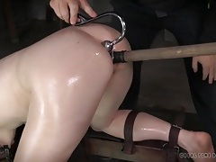 Toy and hook in the ass of a bondage babe tubes