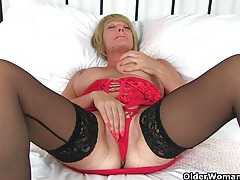 British milf lulu works her big naturals and wet pussy tubes