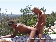Tight young guys flip fucking bareback outdoors tubes