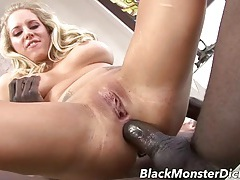 Black dick and a white slut have hot anal sex tubes