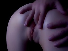 Making love to a masked girl and cumming on her ass tubes