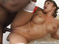 Slutty nurse collects a semen sample from a black dick tubes