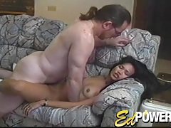 Asian blows and fucks a dirty old white guy tubes