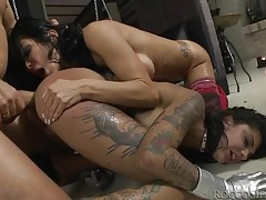 Filthy sluts smile during rough sex with rocci siffredi tubes