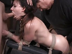 Girl next door used like a sex slave in bondage tubes