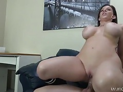 Curvy milf sara jay sits down on a stiff dick tubes