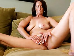Classy milf confidenty strips and teases her body tubes