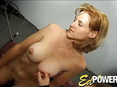 Vintage big tits beauty in a sweater strips for him tubes