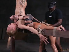 Two slaves in the dungeon used hard by masters tubes