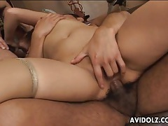 Cute japanese girl used in her tight asshole tubes