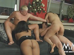 Sluts suck and screw in a curvy girl foursome tubes