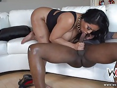 Her fat ass gets a good fucking from black dick tubes