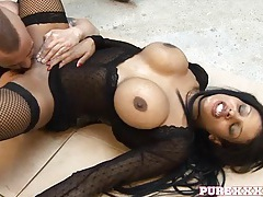 Hardcore in the warehouse with a fake boobs slut tubes
