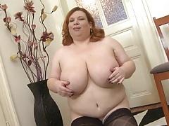 Bbw redhead swinging her big natural tits tubes