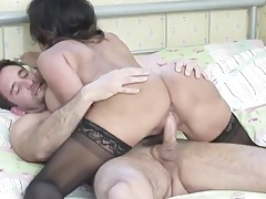 Crazy hot milf babe blows him and rides it tubes