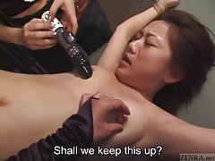 Japanese mistresses play with a tied up girl tubes