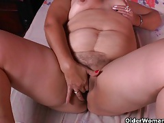 Granny maribel's cleaning turns into a masturbation fest tubes