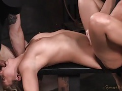Bound and spread girl is their sex slave tubes