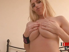 This hot blonde knows how to do a striptease tubes