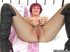 My favourite british milfs in fishnet pantyhose tubes