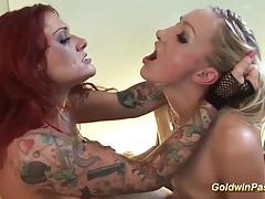 Tattooed lesbians hard fisting tubes