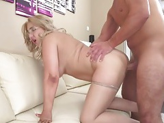 Fat ass hottie bent over the couch and fucked tubes