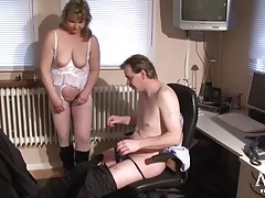 Mature slut in lingerie and boots fucked hard tubes