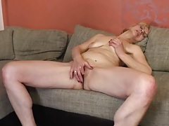 Old slut fingers her pussy and ass erotically tubes