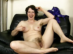 Milf is hairy all over as she chats solo tubes