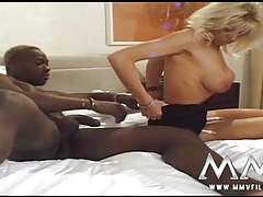 Black dick ass fucks a milf slut in tan stockings tubes
