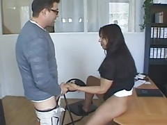 Milf at the job interview fucked until she squirts tubes