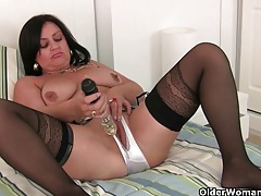 English milfs jessica jay and abigale love masturbating in crotchless knickers tubes