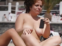 Sexy tits on a pair of friends on a nude beach tubes
