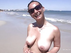 Her big tits are beautiful in a topless chat outdoors tubes