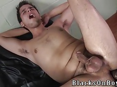 Slutty white ass lubed for a thick black cock tubes