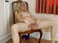 Housewife vacuums the floor naked tubes