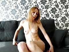 Milf with a sexy set of abs masturbates her bush tubes