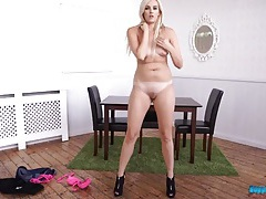Cute british blonde stripping and dancing erotically tubes