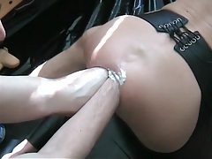 Double anal fisting of a slutty bottom ass tubes