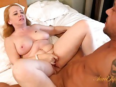 Wet old cunt satisfied by hard young dick tubes