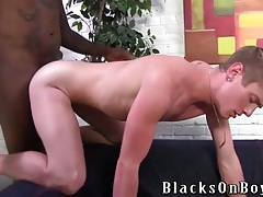 Massively thick black cock fucks a white ass tubes