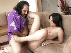 Dirty old man ron jeremy fucks a hot young chick tubes