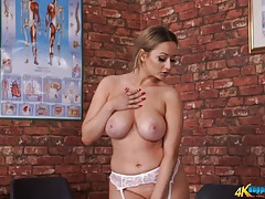 Hot lingerie set on a big breasted english girl tubes