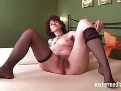 Get close with her hairy mom twat tubes