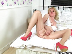 British milfs alisha rydes and diana in sexy pantyhose tubes