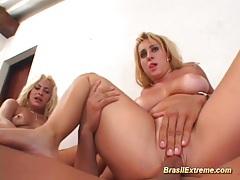 Brazilian threesome extreme tubes