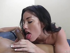 Jennifer white pushes her pussy back on black dick tubes