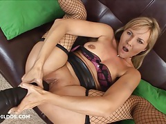 Kate manages to take a massive brutal dildo in her pussy tubes