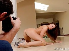 Chanel preston poses for her photographer tubes