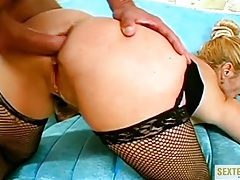 Oiled up milf ass fucked hard from behind tubes